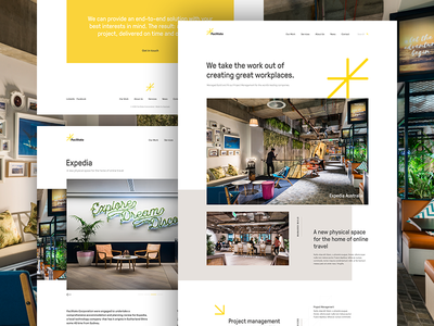Marketing Website simple website ui layout design clean grid web design minimal marketing property commercial