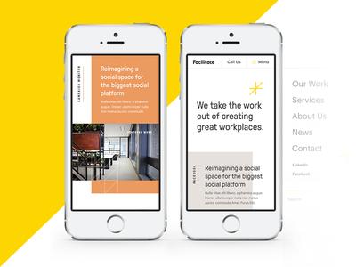 Marketing Website: Mobile Mockups