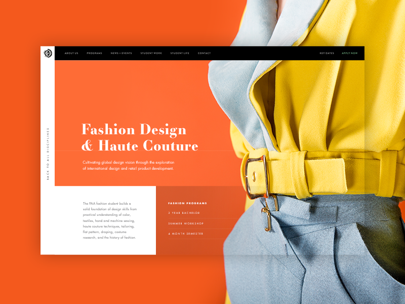 PAA Fashion Hero website ui layout design clean concept grid web design minimal marketing hero fashion