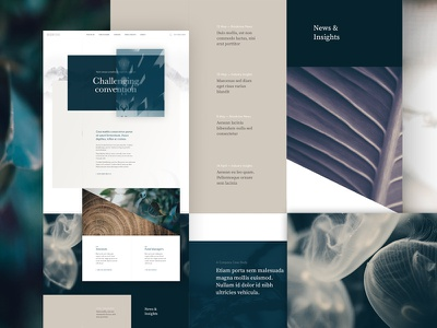 Unused Homepage Concept homepage finance marketing minimal web design grid concept clean design layout ui website