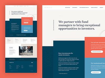 Unused Homepage Concept 002 website ui layout design clean concept grid web design minimal marketing finance homepage