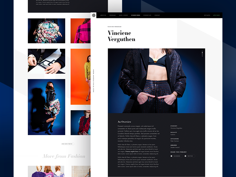 PAA Project Case Study fashion hero marketing minimal web design grid concept clean design layout ui website