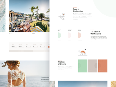 MH WIP 02: Homepage Events + News  🐫 homepage accomodation marketing minimal web design hotel concept clean design layout ui news