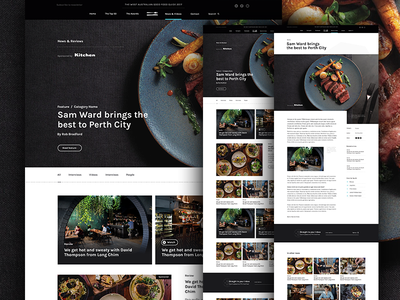 WA Good Food Guide - Sneak Peek 002 blog news restaurant food photography web design concept design layout ui website grid