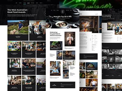 West Australian Good Food Guide grid website ui layout design concept web design photography food restaurant news blog