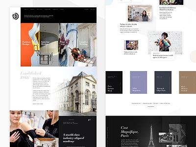Paris American Academy Website 🇫🇷 grid website ui layout design concept paris web design photography art fashion homepage