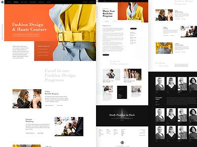 Programs Listing — Paris American Academy Website 🇫🇷 listing fashion art photography web design paris concept design layout ui website grid