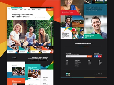 🇦🇺 Auspire - Homepage Concept vibrant grid australia community homepage web design concept design layout ui website