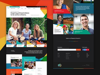 🇦🇺 Auspire - Homepage Concept