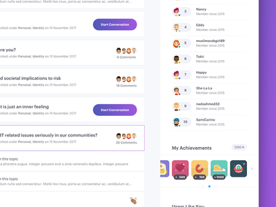 LGBTQ Forum: Stream WIP discussion lgbtq ux forum ui design interface chat layout gradient illustration interaction