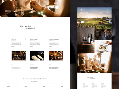 Sandalford Wines Homepage grid website ui layout design concept web design homepage vineyard photography wine winery