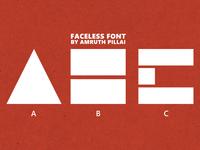 Faceless Font