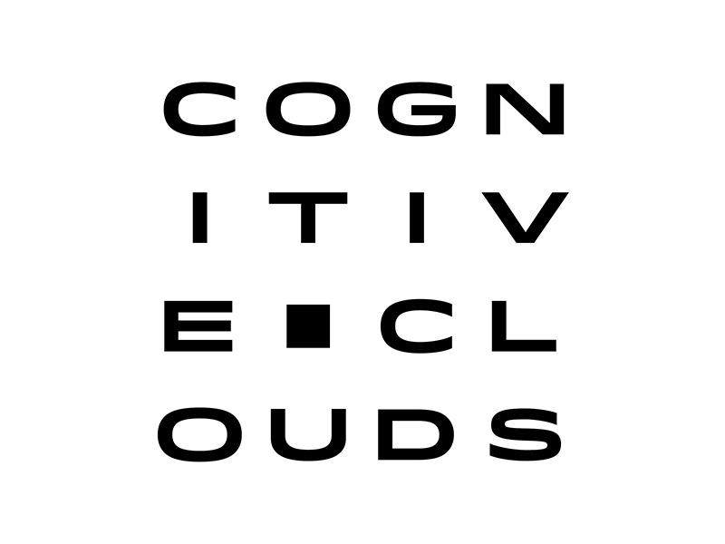 CognitiveClouds Logo cognitiveclouds logo type idlewild text wordmark matrix cube