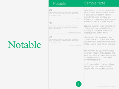 Notable notable ui ux android app notes material design