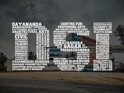 Dayananda Sagar Institutions Typographic dayananda sagar institutions photoshop design typography