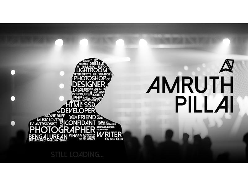 Amruth pillai typography 800x600 dribbbleshot