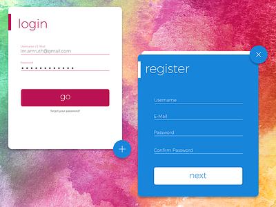 Material Login/Register UI colors ui register login material