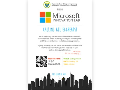 Poster Design for Microsoft Innovation Lab