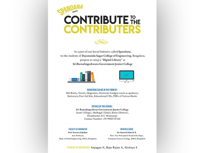 Poster for NGO Initiative to Collect Books