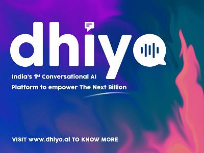 Dhiyo.ai Logo text message waveform chatbot india bangalore typography illustrator logo design photoshop