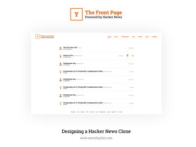 Hacker News Redesign clone feed news tutorial speed design redesign figma hacker news ui