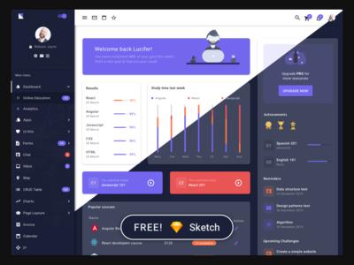 Egret Admin Dashboard Template Free Sketch Resources