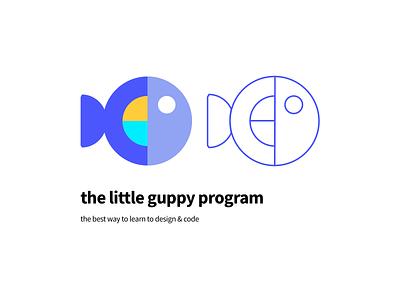 the little guppy illustration logo
