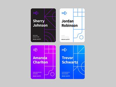 Identity cards gradient design cards design