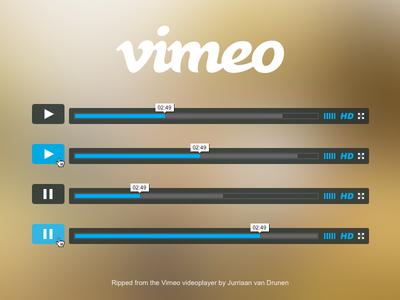 Freebie Vimeo Player PSD vimeo video player player freebie free