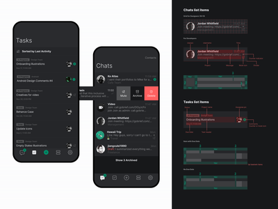 Brief App Mobile Rules message app task list task manager chat redesign developers grid rules application ios dribbble interaction mobile design app ux ui interface