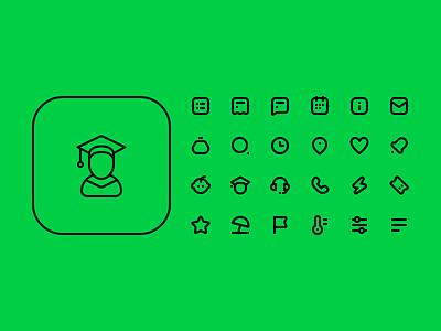 Kidsout icons stroke icons icon design icon set icons icon dribbble design ui