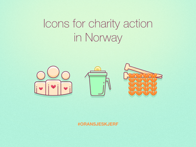 Icons for charity action in Norway sketchbook sketch shapes illustration drawing draw flat needle yarn color icons icon