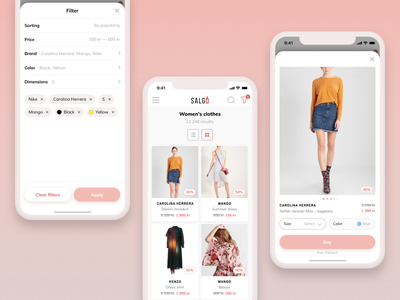 Salgo — Affiliate Discount Network card list interface fashion filter commerce app iphone x ux ui mobile discount