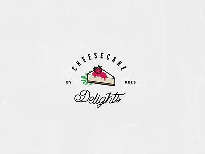 Cheesecake Delights - Logo typography design food bakery dessert cheesecake identity branding logo