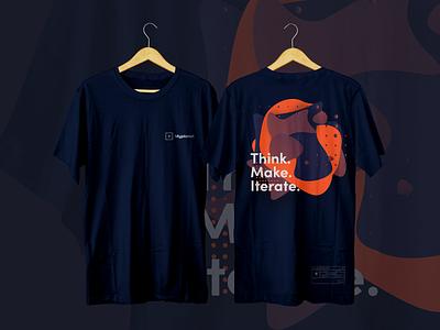 Myplanet - Staff T-Shirt Design brand customizable typography gradient mockup fashion diy print pattern staff employee label design t shirt shirt