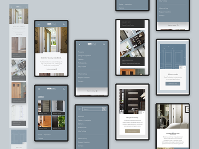 Trustile - Mobile Home Page navigation home page architecture design product responsive luxury e-commerce interior furniture door website mobile ui b2c consumer ux interaction design ui web design mobile