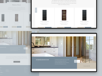 Trustile - Category Landing Page website e-commerce consumer door design card carousel architecture interior luxury grid responsive digital b2b b2c ecommerce mobile web design ux ui