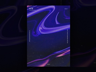 Wave digital art graphic design paint gradient typography c4d daily baugasm print abstract poster