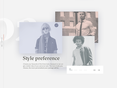 Style Preference Selection checkout ecommerce preferences select selection interface sketch web clothing fashion ux ui