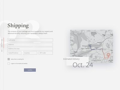 Shipping details web ux ui sketch selection select preferences interface fashion ecommerce clothing checkout