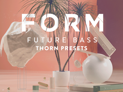 """""""Form"""" - Cover pink photoshop music graphic design gold future edm digital cinema4d artwork abstract 3d"""