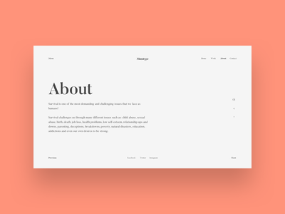 Type-only UI design graphic composition challenge exercise digital web ui typography type