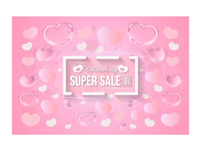 Heart love shape decoration frame super sale banner