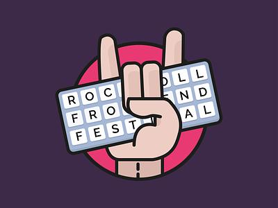 🤘⌨️ frontend keyboard rock and roll rock icon branding vector logo illustrator illustration design flat