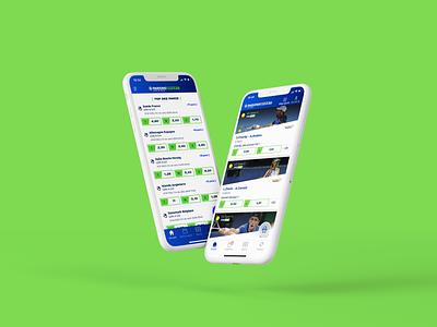 Parions Sport ux icon ui logo branding design app design parions sport sport bet app