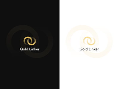 Gold Linker app gradient icon illustrator branding logo ui illustration vector flat