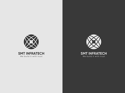 Infrastructure branding branding vector ui design flat icon illustrator logo
