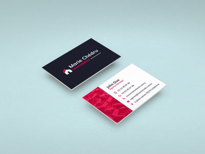 Business Card business card design real estate agency realestate business card business flat logodesign vector branding illustrator icon illustration logo