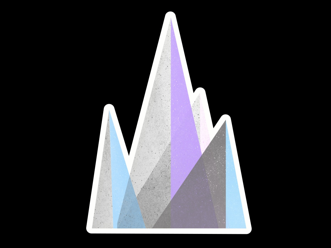 Majestic Mountain geometric design vector triangle color shape texture icon mountain illustration aftereffects