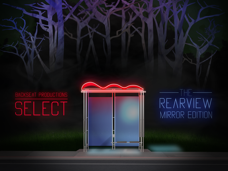 Backseat Productions Select : The Rearview Mirror Edition sf bay area bus stop sf california san francisco muni typography aftereffects illustrator vector illustration cover art album cover